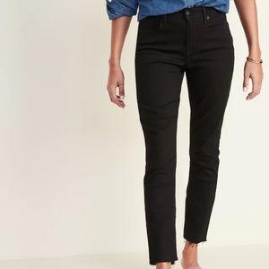 High Waisted Power Slim straight jeans - black